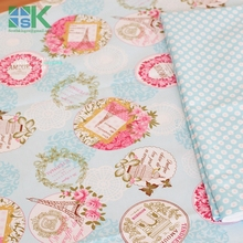 Fashion DIY Cotton Fabric Fabric Slanting 100 stripe cotton cloth font b bedding b font font