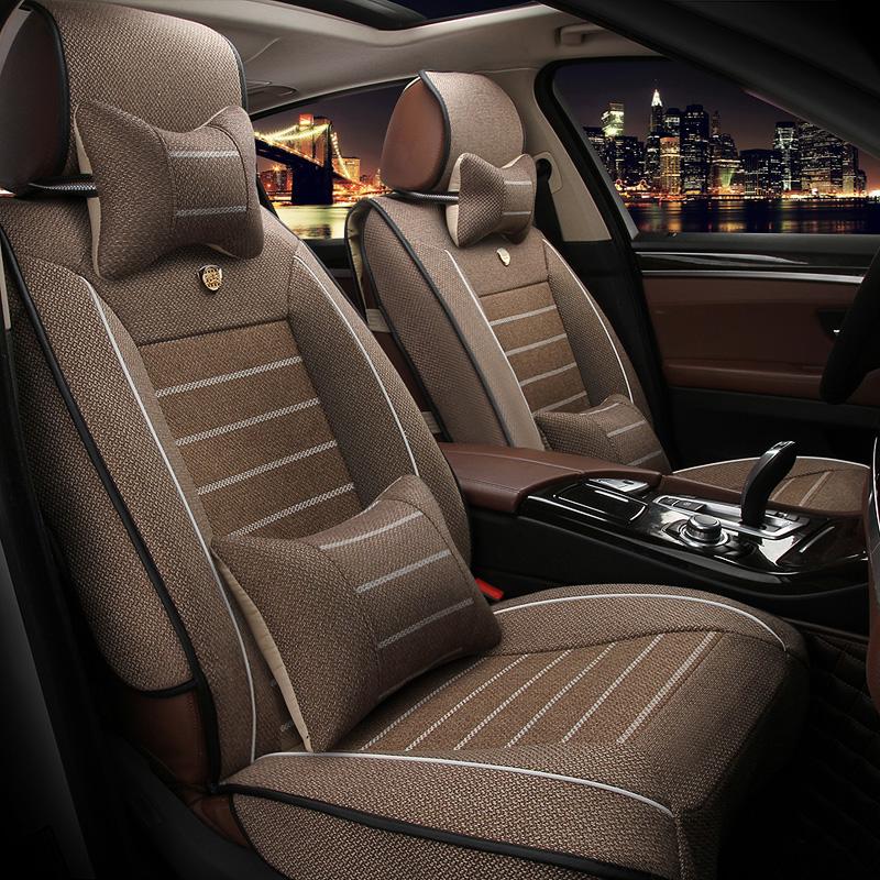 High Quality Linen car seat covers For Skoda Octavia 2 a7 a5 Fabia Superb Rapid Yeti Spaceback Joyste car accessories styling