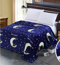 Blanket Coral Fleece Blue Night Sky Blanket Throws on Sofa Bed Plane Travel  Big f32401359