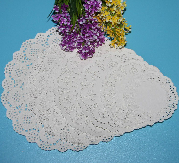 DIY Mixed Size white Round Lace Paper Doilies Placemat ...