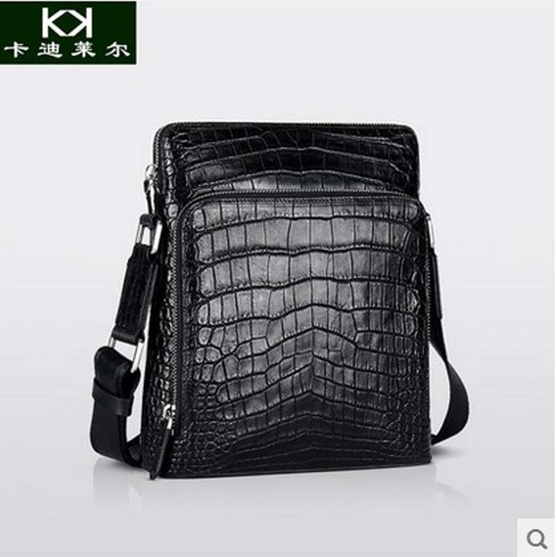 Kadiler 2017 new hot freeshipping crocodile leather single shoulder bag man bag men European luxury leather bag коньки maxcity snipe girl 33 36