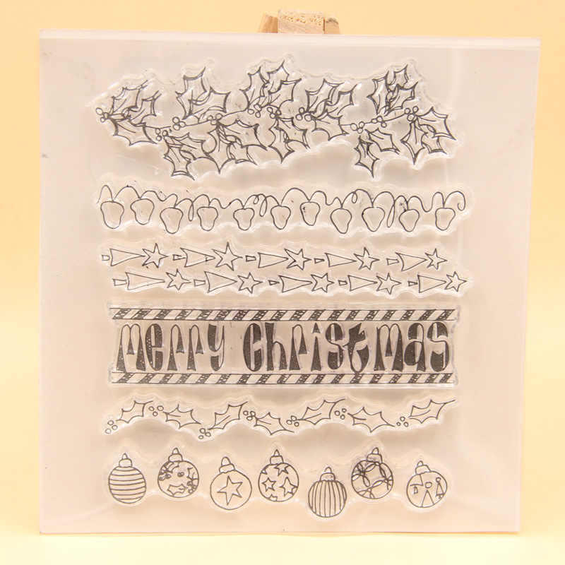 KLJUYP Merry Christmas Clear Stamps Scrapbook Paper Craft Clear stamp scrapbooking 566