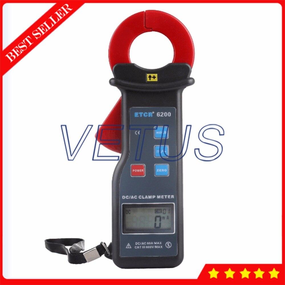 ETCR6200 ток утечки измерения 0 60A AC DC Токоизмерительные для автомобиля ток заряда тестер
