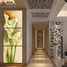 3 Pcs/Set Artist Canvas Still Life painting Calla Flower vertical forms Canvas Prints Wall Pictures for Living Room Picture