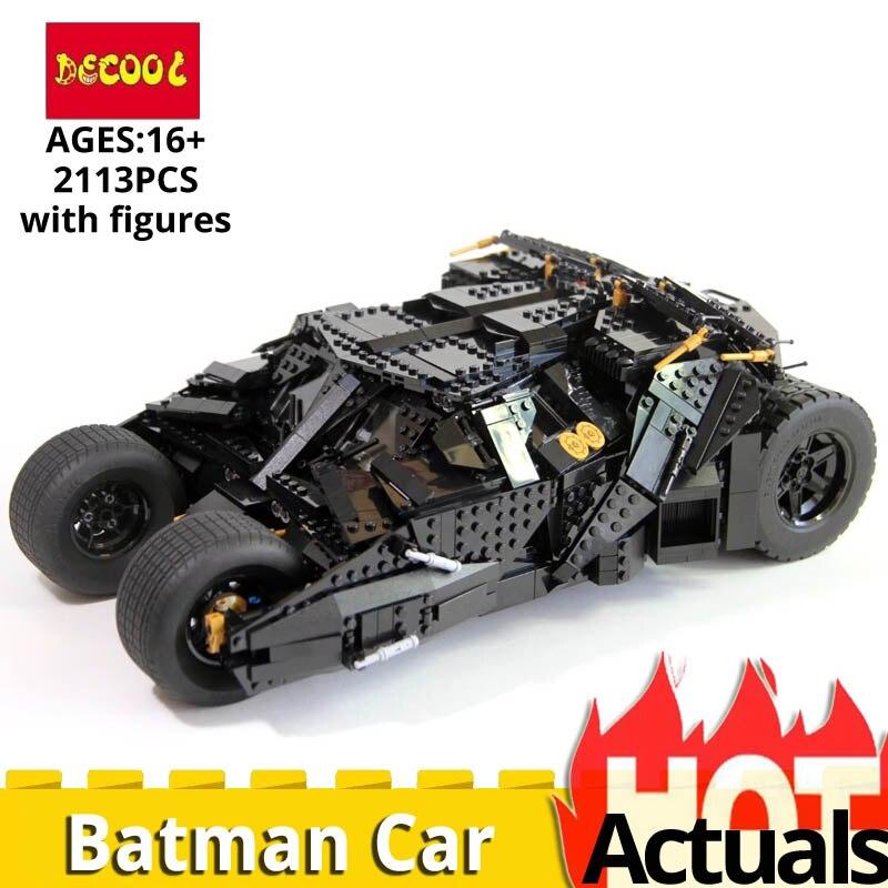 Décool 7111 briques de construction legoings 76023 marvel super héros série de film Batman voiture blindé Chariot action garçons jouets 2113 pièces