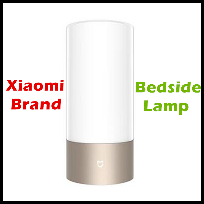 Original Smart Xiaomi Mijia Bed Bedside Lamp Bluetooth WiFI LED Light Touchlight RGBW Touch Control for Smart Phone App Control original xiaomi yeelight led smart bulb colorful e27 9w 600 lumens mijia light xiaomi smart phone wifi remote control