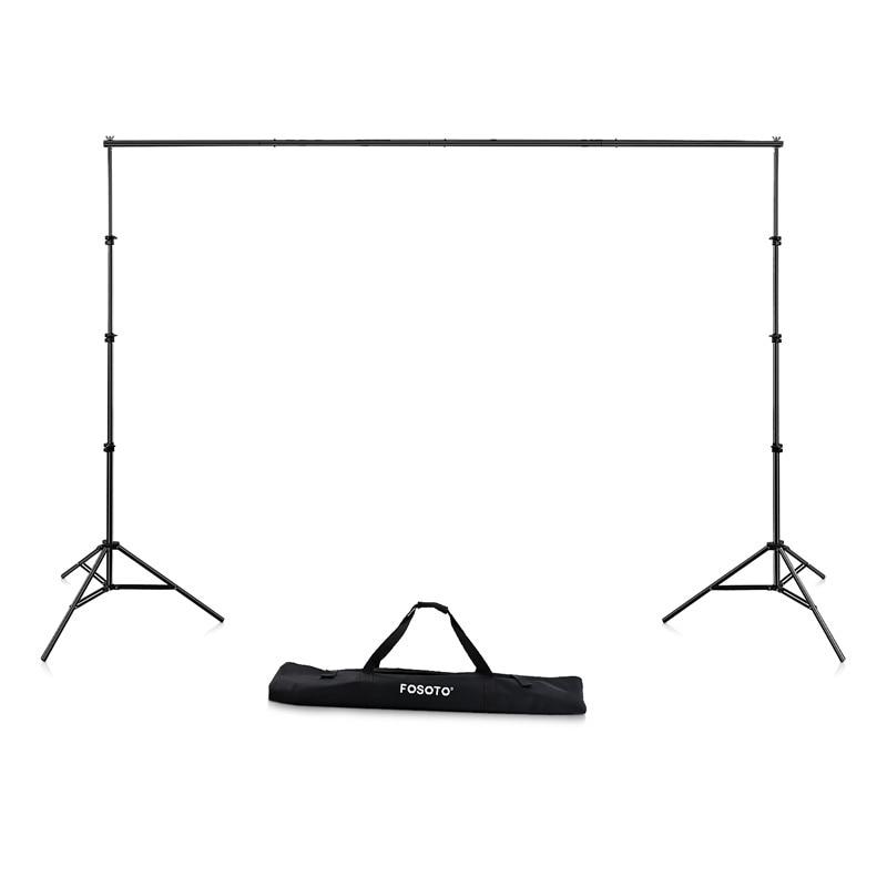Fosoto 2.6*3 cadre de fond cadre de Studio Photo support de trépied pliant pour accessoires et sac de photographie de Studio vidéo-in Accessoires pour studio photo from Electronique    1