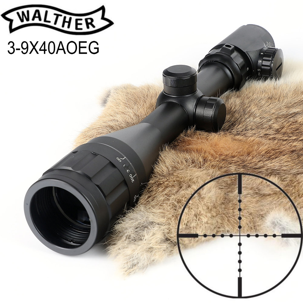 WALTHER FT 3-9X40AOEG Hunting Riflescope Mil Dot Glass Etched Reticle Trail Rifle Scope mosin nagant pu 4x20 steel riflescope with etched glass reticle crosshair svt 40 hunting rifle scope