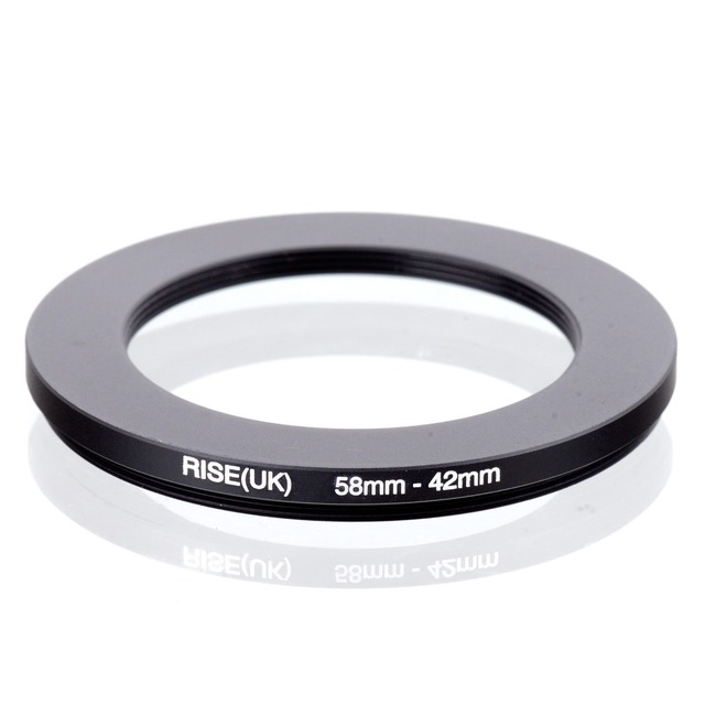 RISE(UK) 58mm 42mm 58 42mm 58 to 42 Step down Ring Filter Adapter black