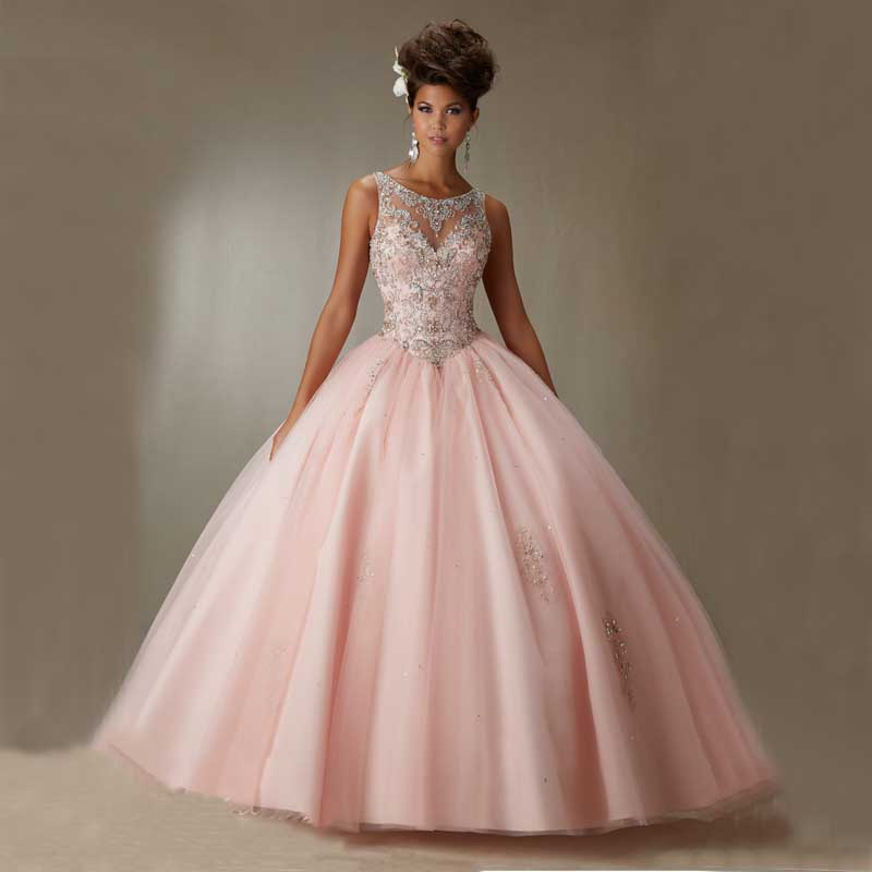 Online Buy Wholesale Pink Quinceanera Gowns From China