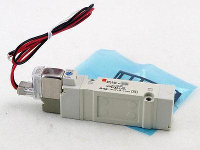 Électrovanne 12VDC SMC de joint en caoutchouc de 5 ports de SY5140-6LOU