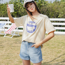 2019 Summer Women T Shirt Round Neck Cartoon 3D Print Harajuku Short Sleeve Shirts Female Casual Cotton Funny Tops Girls Tee недорого