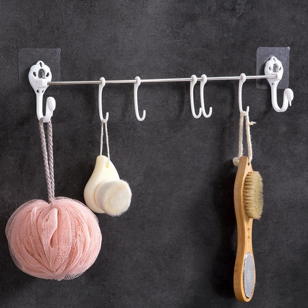 Swan Design No Punching Bathroom Hook Hanger Brush Sponge Wall Mount Organizer Hook Hanger Hooks For Hanging Dropshipping