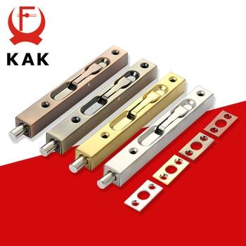 KAK Stainless Steel Hidden Door Bolt Security Guard Door Latch 4/6/8/10 inch Sliding Door Lock Bathroom Bolt Dust Proof Hardware