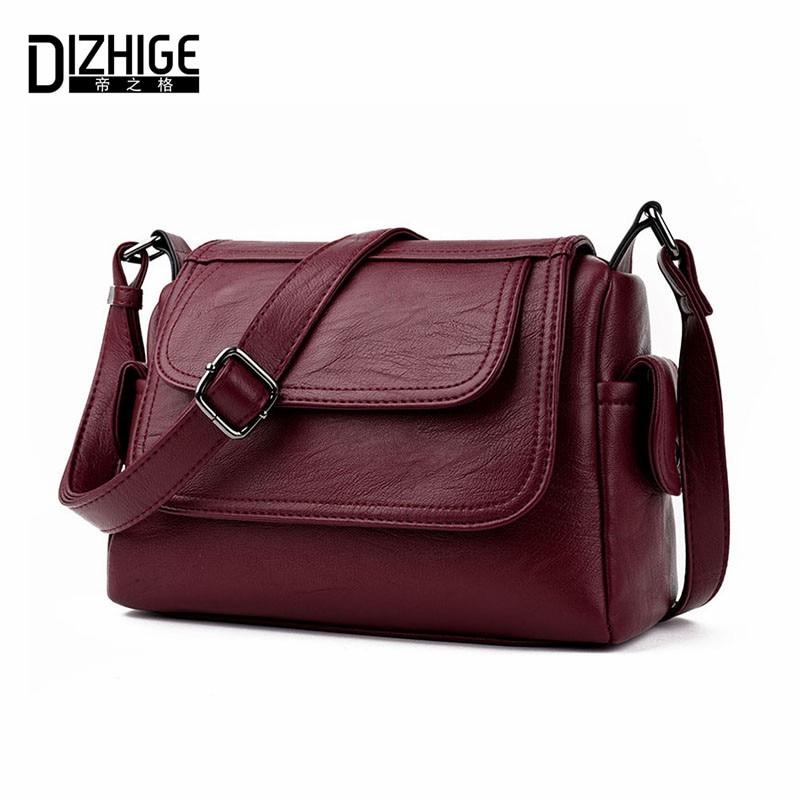 DIZHIGE Brand 2017 Spring Summer Fashion Crossbody Bags Single Shoulder Bags Ladies PU Leather Bags Women Handbags New Sac Femme