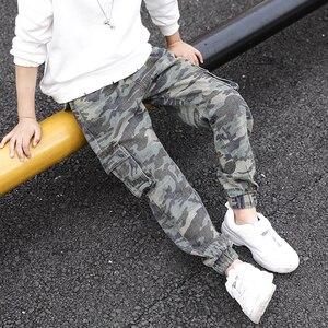 Image 2 - Abesay Herbst Camouflage Hose Für Jungen Casual Jungen Hosen Lose Kinder Hosen Winter Teenager Jungen Kleidung 6 8 12 Jahre