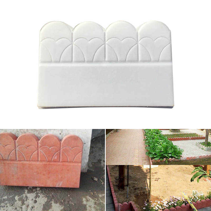 Garden Tree Courtyard Plastic Mold Fence Flower Pool Brick Maker Pathing Mould MYDING