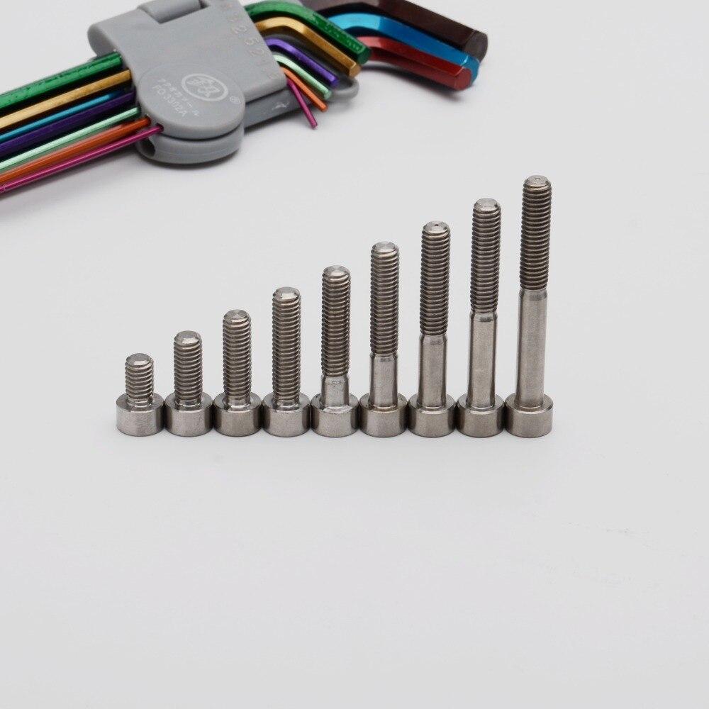 Screw Fastener GR5 2//6//10pcs M8 x 75mm Titanium Ti Bolt Flange Head 10mm Hex