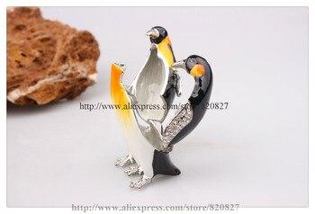 упаковочные коробки оптом | Коробка для ювелирных изделий с пингвинами оптовая продажа коробка для безделушек с животными пингвинами новинка коробка для колец с пингв...