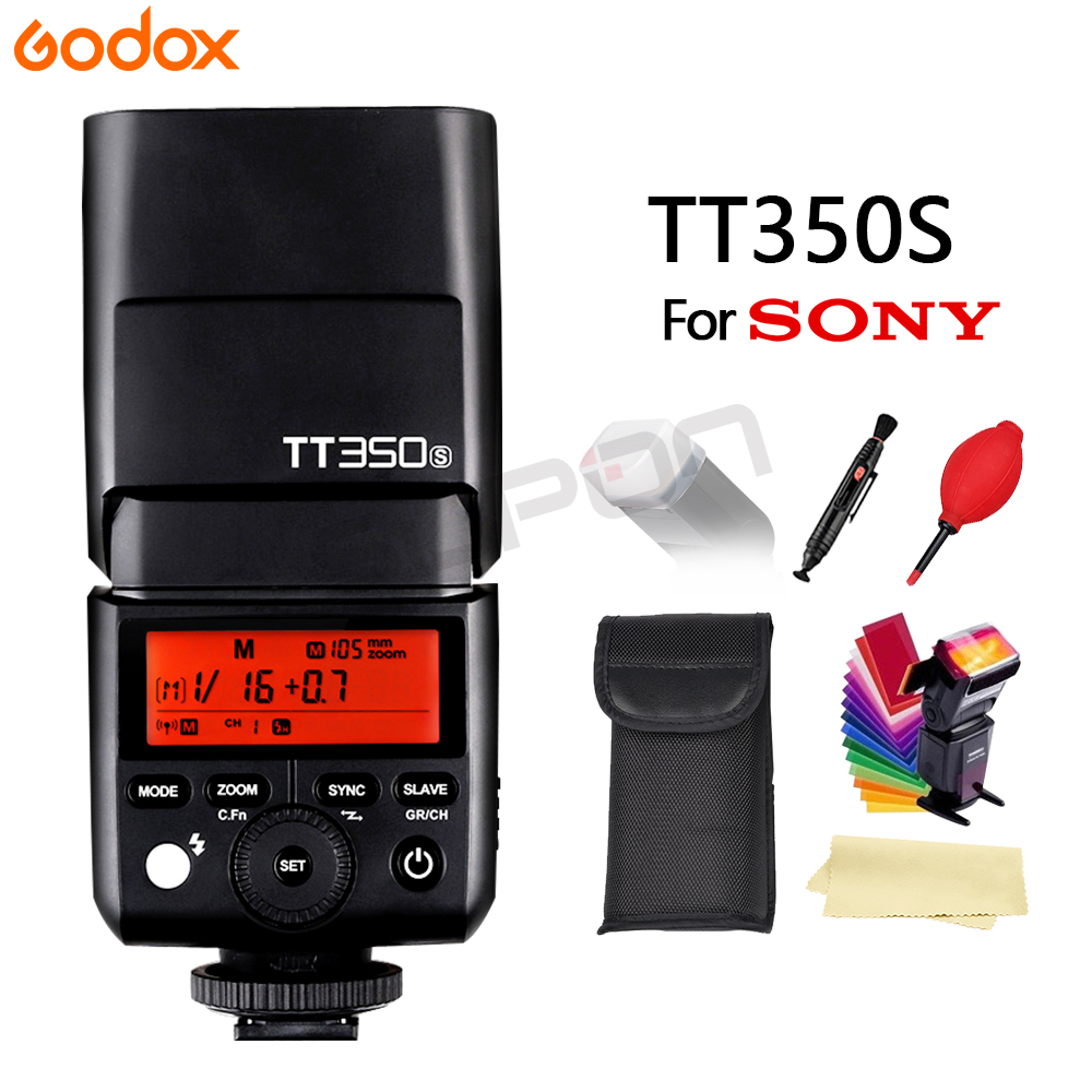 Godox TT350S 2,4G 1/8000 s TTL GN36 inalámbrico Flash Speedlite luz para cámara Sony A7 A7R A7S a7 II A7R II A7S II A6500 A6000