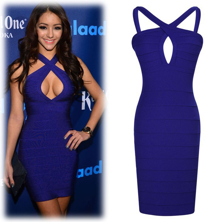 sexy Elegant navy blue women dress bodycon 2017 short cocktail party ...