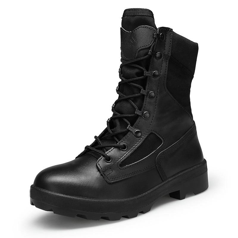 Masorini Hiver bottes militaires Hommes de Qualité Hommes Tactique bottes de combat militaires Armée chaussures de travail En Cuir Askeri XX-471 de Bot Hommes