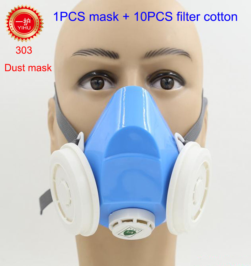 YIHU respirator dust mask High quality anti pollution fashion blue dust mask PM2.5 smoke exhaust Grade N95 safety masks 50pcs high quality dust fog haze oversized breathing valve loop tape anti dust face surgical masks