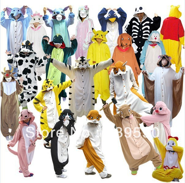 Online Shop Kawaii Animal onesies Pajamas for adult Animal footed ...