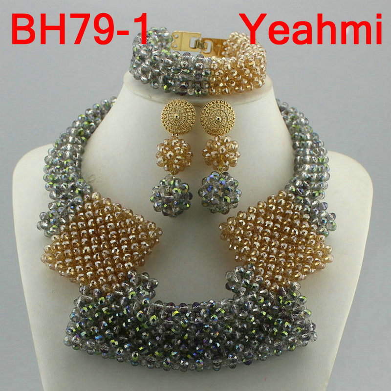 Trendy Crystal Jewelry Sets Long Design Women Beads Necklace African Wedding Bridal Jewelry Sets Free Shipping BH79-2Trendy Crystal Jewelry Sets Long Design Women Beads Necklace African Wedding Bridal Jewelry Sets Free Shipping BH79-2