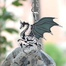 Game of Thrones Glowing Steel Dragon Necklace