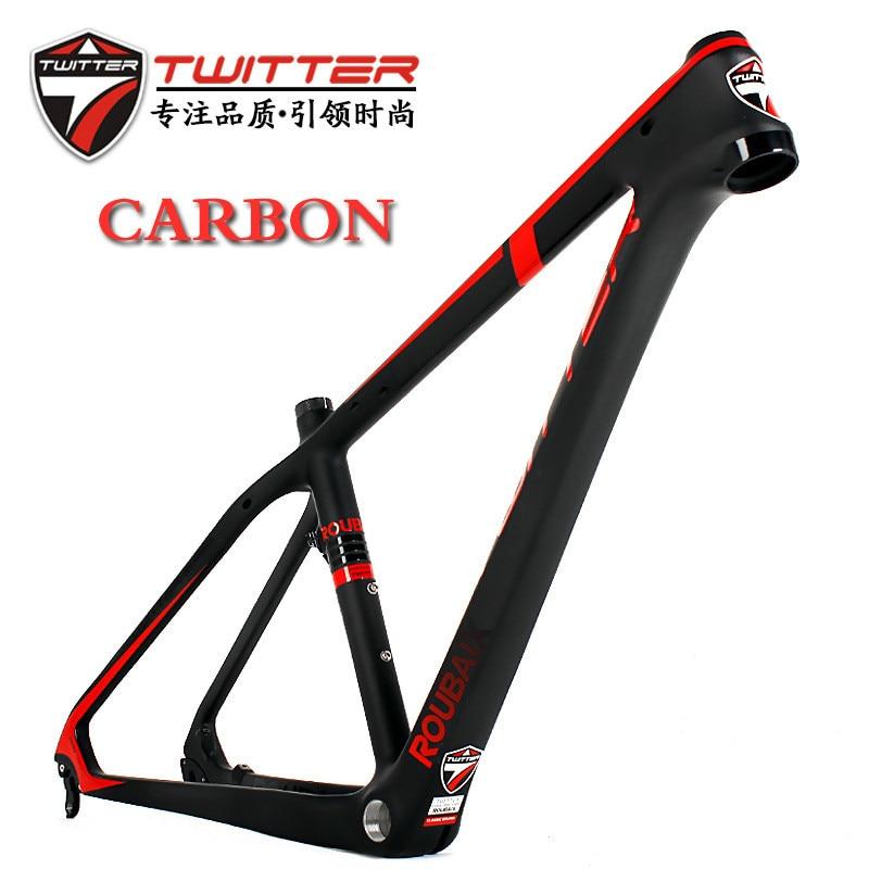 Carbon Fiber Mountain Bike Frame 15.5/16.5/17.5 mtb Bicycle Frame  UD Matte smileteam new 27 5er 650b full carbon suspension frame 27 5er carbon frame 650b mtb frame ud carbon bicycle frame