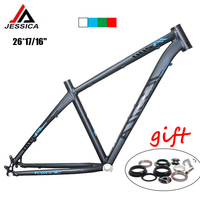 JESSICA 26er 16/17 inches Mountain Bike Frames MTB Frame Bicycle Superlight Straight Tube 44mm Frameset BSA 68mm