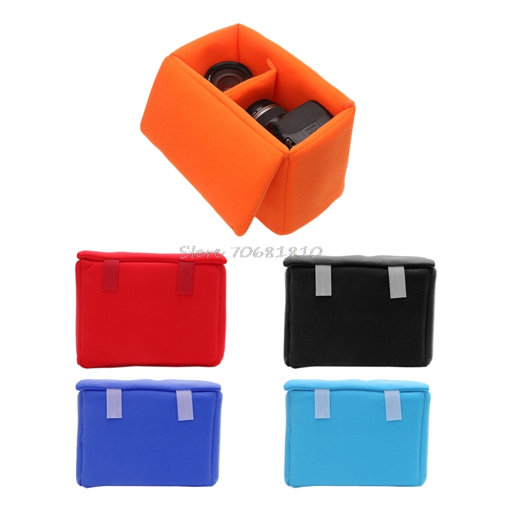 Camera Lens Case Pouch Insert Cushion Partition Padded Shockproof Bag For DSLR Z09 Drop ship