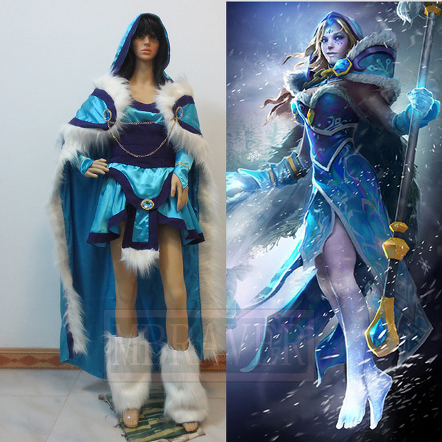 Dota 2 Crystal Maiden New Cosplay Costume In Game Costumes From