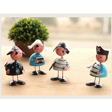 Small Pirate doll  home decoration crafts Iron figures Figurines &Miniatures birthday gifts Decoration