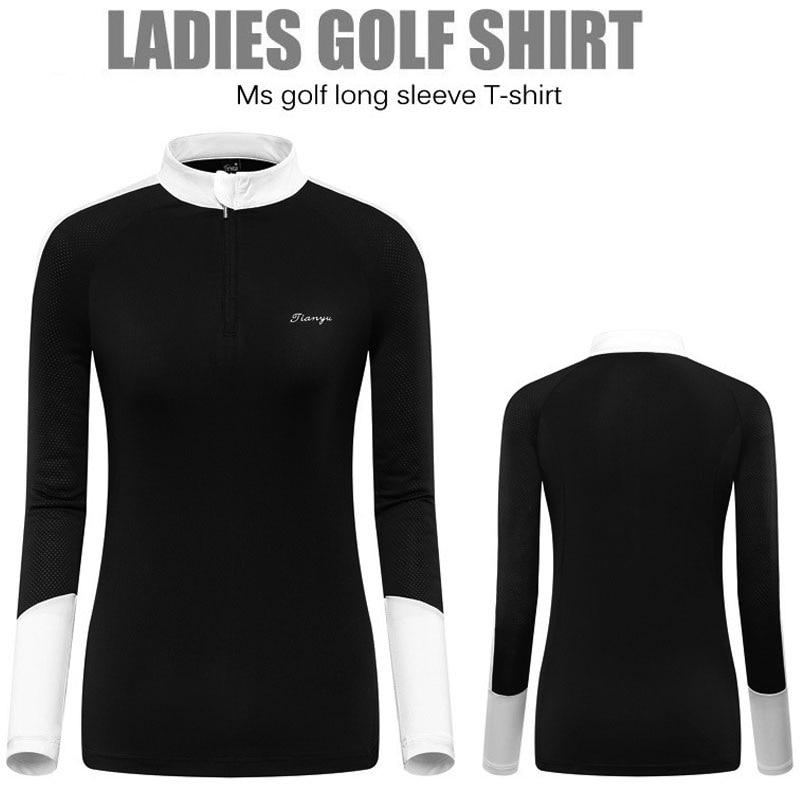 Femmes à manches longues respirant Golf chemises en plein air à séchage rapide crème solaire hauts d'entraînement dames minceur Golf vêtements tailles XXL D0694