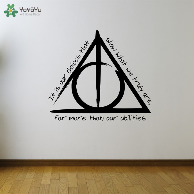 yoyoyu wall decal harry potter quote wall stickers for kids room