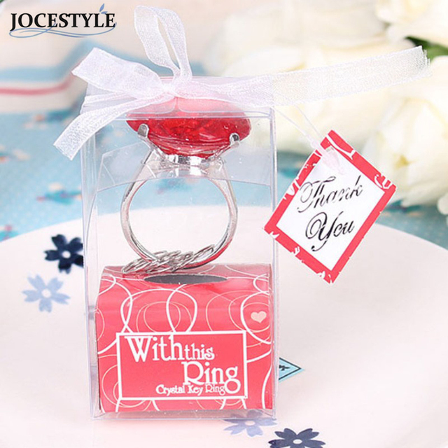 Red Love Ring Shape Keychain Key Accessories Home Party Favors