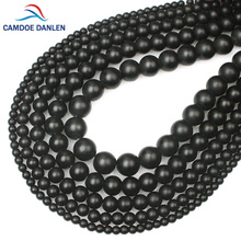 "4/6/8/10/12mm Black Dull Polish Matte Onyx Natural Stone Round Beads For Jewelry Making DIY Charms Necklace Bracelet 15"" #MN25"