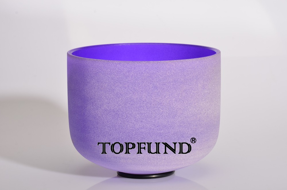 ФОТО Purple Color  Chakra Frosted Quartz Crystal Singing Bowl 8