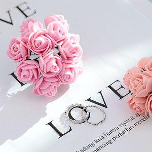 Image 3 - Rose Rose artificielle mousse fleur ins photographie accessoires Photos Studio accessoires pour bagues bijoux cosmétique photographie toile de fond