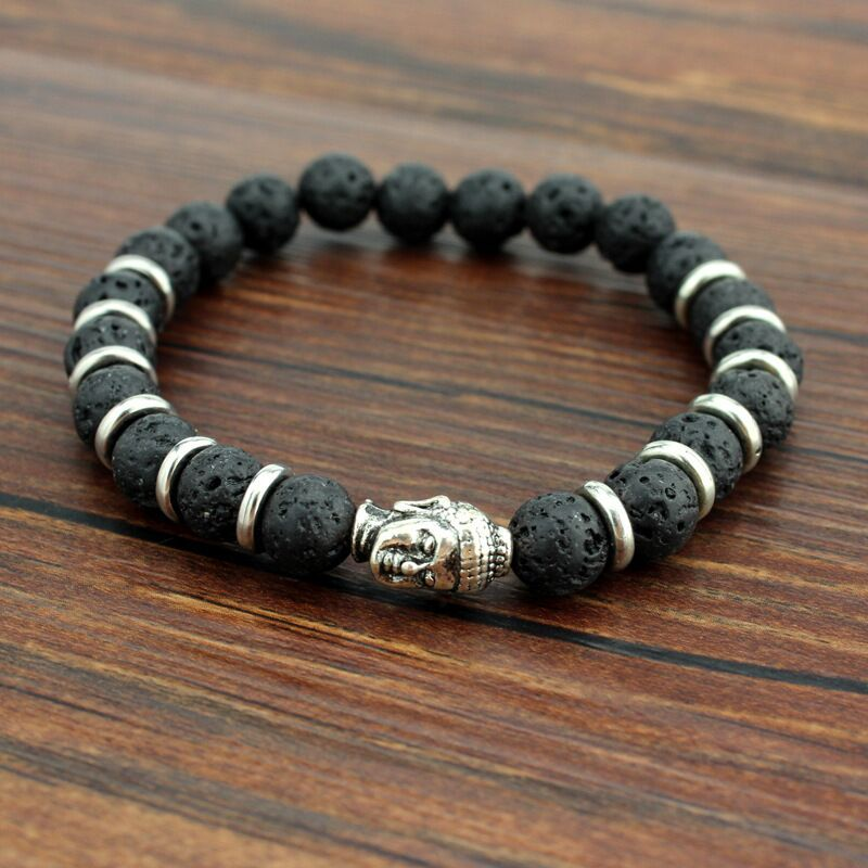 Mens Bead Charm Bracelet Buddha Bracelets Paracord Natural Stone Lion Bracelet Men Pulseras Hombre Bracciali Uomo Mens Bracelets Кормушка