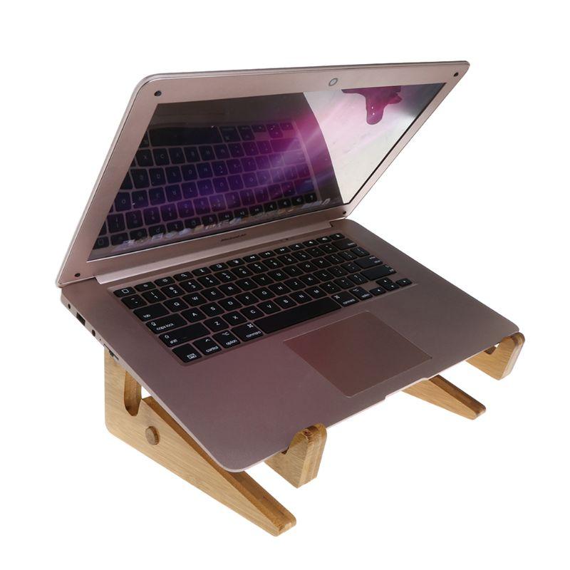 """Bonito Soporte Para Ordenador Portátil Teclado Desmontable Soporte De Escritorio Soporte De Madera Plegable Portátil Para Apple Macbook Tablet Pc Notebook 15 """"-17"""""""