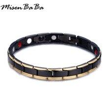 Модные Нержавеющая сталь браслеты из Германия для женщины Для мужчин Jewelry энергия баланса уход магнитный Мощность здоровья Браслеты