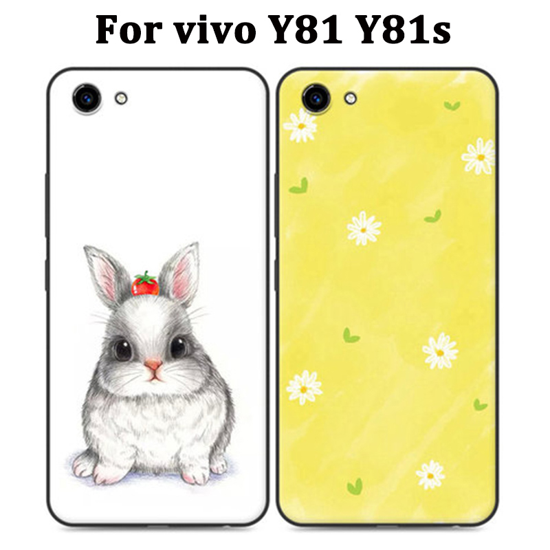 For vivo Y81 Case cartoon Silicone soft phone Case For vivo Y 81 Y81s Cover Protection Shell For vivo1 Y81 s cases coque