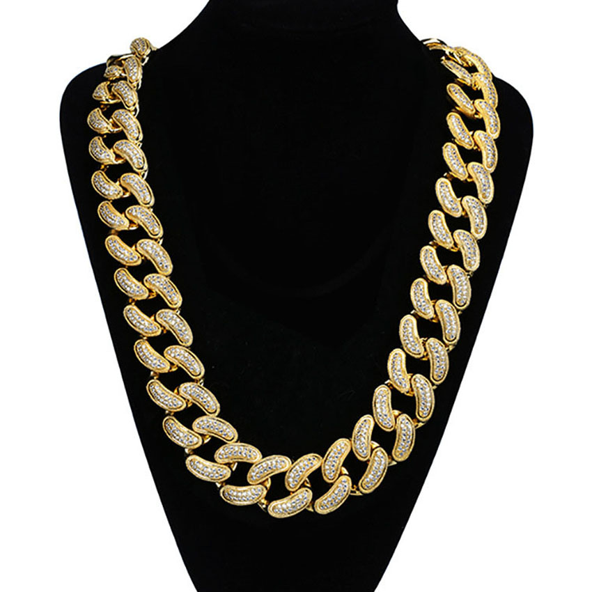 28MM Men Women Hip Hop MIAMI CUBAN LINK Fully CZ Chain Necklace Casting Micro Cubic Zirconia Clasp ICED OUT Bling DJ Jewelry