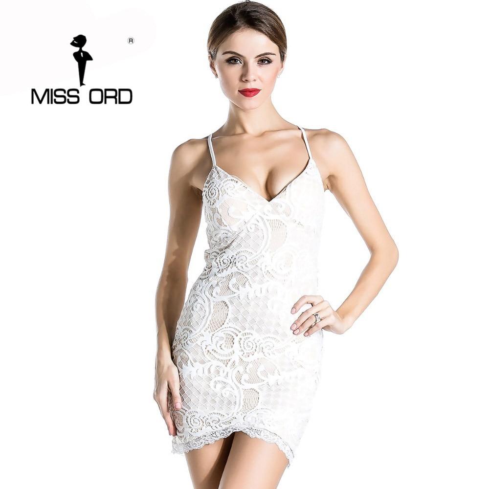 Free Shipping Missord 2019 Sexy tight v-neck dress lace stitching party  dress FT1887 0e8de99de77f