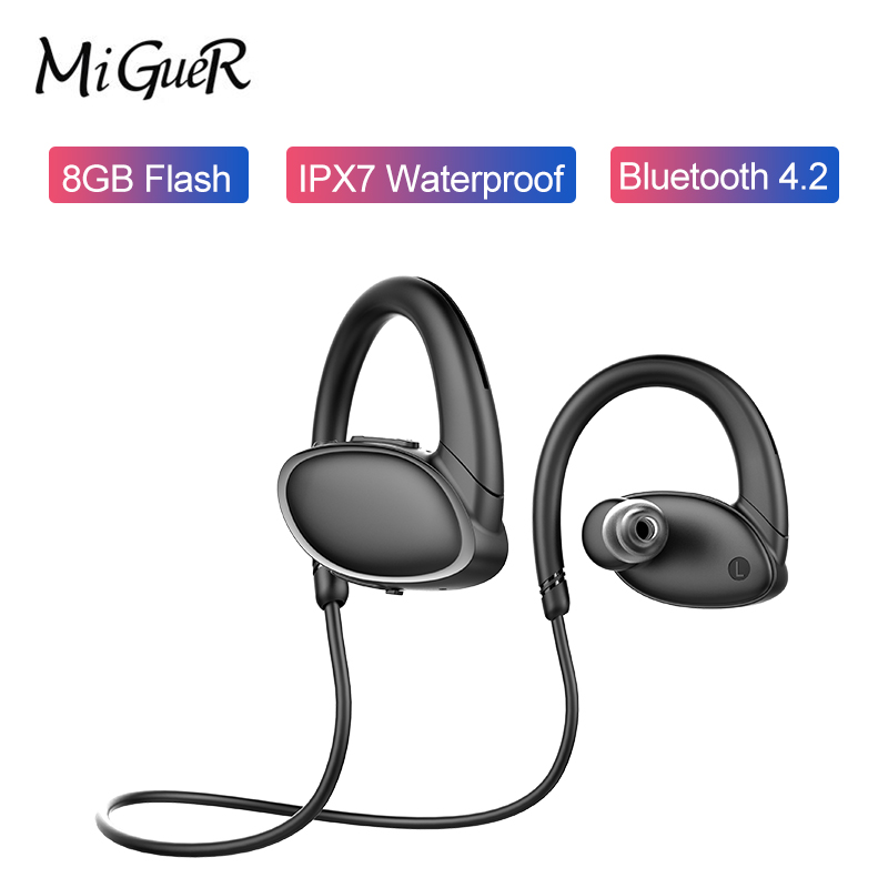 New OVEVO X9 Sports Bluetooth Earphones 8GB ROM IPX7 Quality Sound Anti sweat Wireless Sports Earbuds