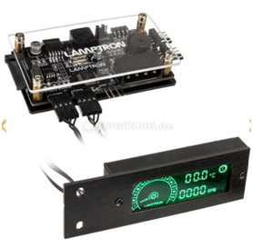 Lamptron TC20 RGB CPU Fan speed Displayer,LCD screen,only one channel for PWM fan,Display CPU Fan Speed,4-pin RGB LED connection