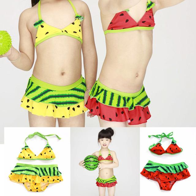 watermelon Swimsuit Girls 2 Pieces  Swimwear Female Split Bikini Baby Children Swimwear Girls Bikini Kids Swimming Suit,Shorts,